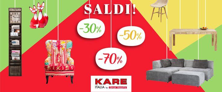 Sconti fino al 70% su tutti i prodotti Kare in esposizione... ma solo per poco tempo! Affrettati!