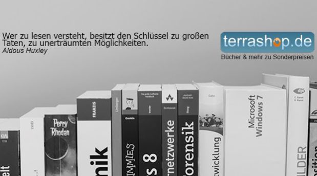 """100 Buchangebote wächst stetig und wir freuen uns über den neuen Partner terrashop.de. Der Versandhandel hat sich gerade im Bereich Computer- und Internetliteratur einen Namen gemacht. Seit 1995 kauft das Team aus Bornheim sachkundig auch Software und Bücher aus allen Bereichen des Modernen Antiquariats ein. """"Günstig und Empfehlenswert"""" lautet das Motto rund um Mängelexemplare und Restauflagen. http://www.100buchangebote.de/neuer-partner-terrashop-de-spezialist-fuer-preisreduzierte-buecher/"""