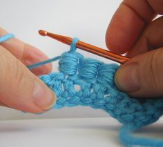 Crochet - Bullion Stitch - Picture Tutorial also for left-handed crocheters (with mouse-over) - Häkeln Wickelstich - Bilderanleitung auch für Linkshänder