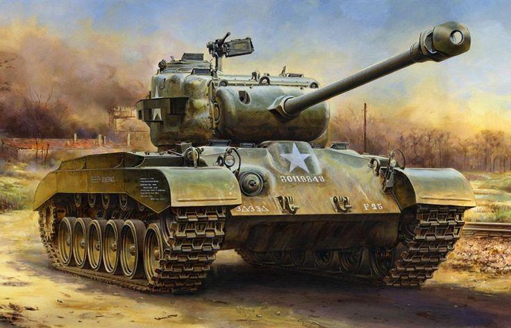 WW2 Tank Paintings / M26 Pershing                                                                                                                                                                                 More