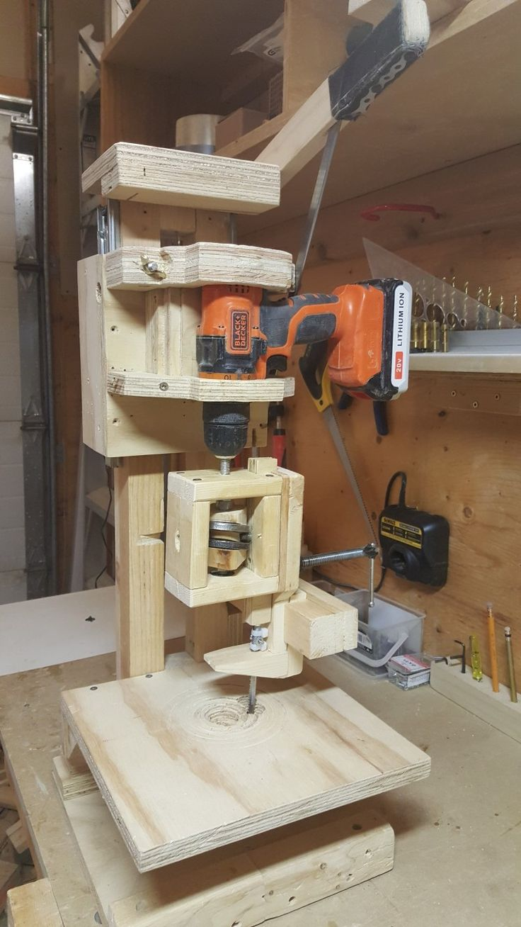 Jig Saw mounted on Drill Press Frame@Jeongtack Lee