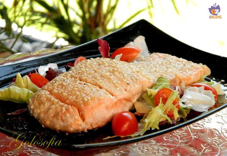 Filetto di salmone al sesamo, ricetta buonissima