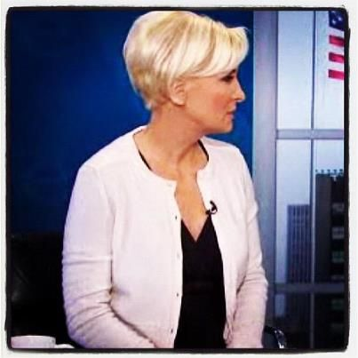 Mika Brzezinski I Love Her Hair Very Striking Hair