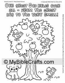Coloring Page For Daniel 4