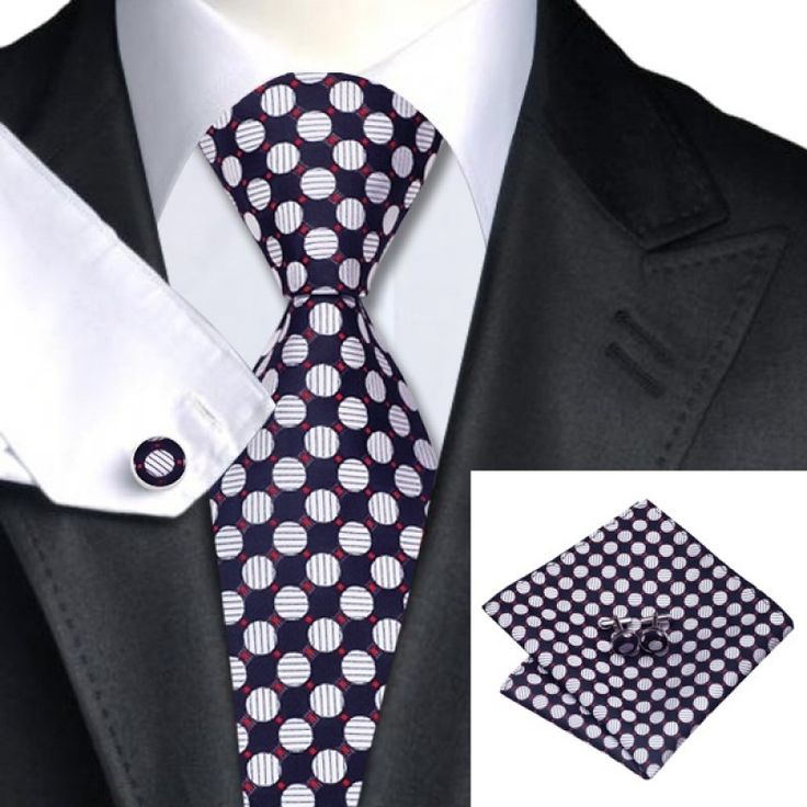 Подарочный галстук черный в кружки - купить в Киеве и Украине по недорогой цене, интернет-магазин
