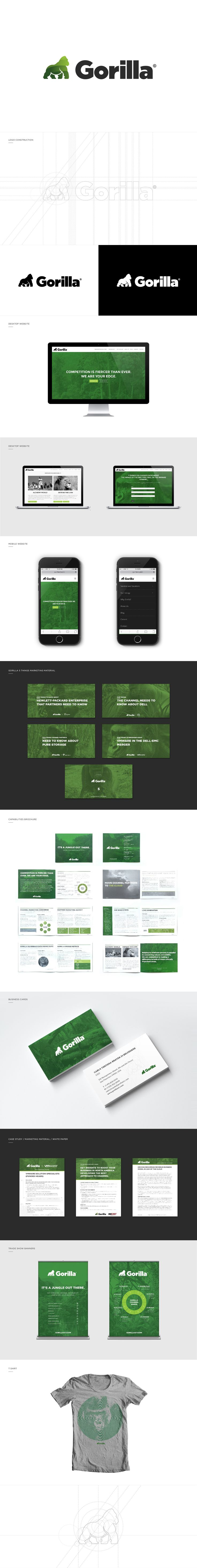 "Consulta este proyecto @Behance: ""Gorilla - Brand Identity""…"