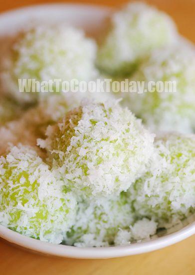 Indonesian Food. Onde Onde. Sweet Glutinous Rice Balls