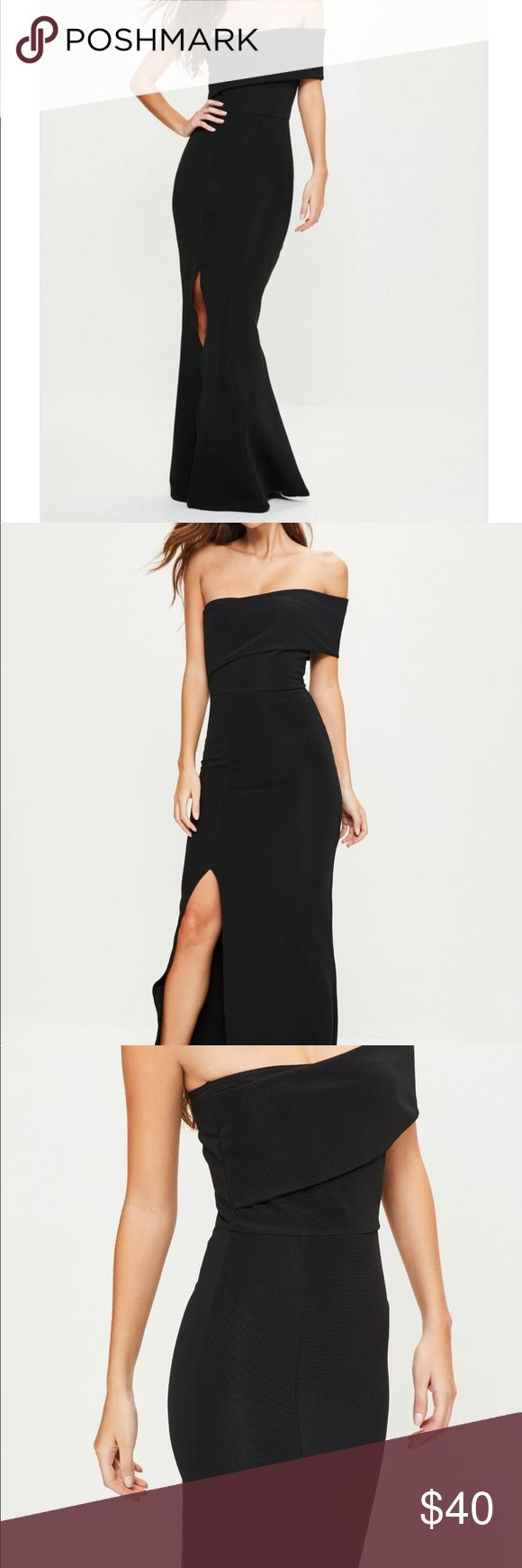 Black one shoulder maxi dress- never worn Brand new never worn misguided Dresses Maxi