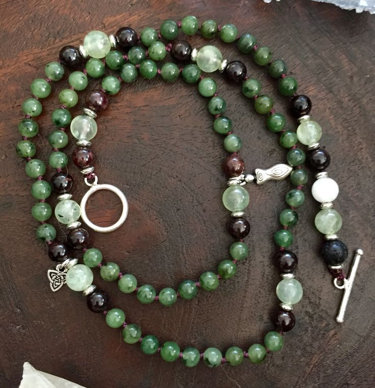 Connect, Breathe & Restore with this Nature Spirits Mala from the Goddess Collection. #bracelet #necklace #mala www.whisoeredsecretsyoga.com