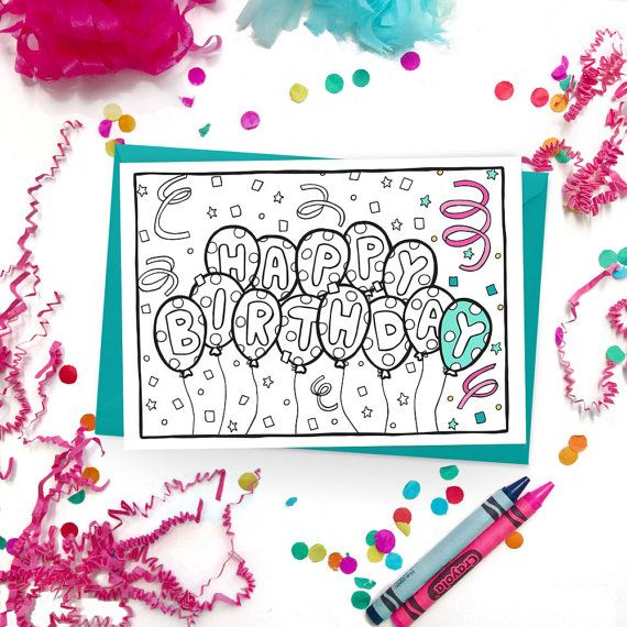 Give more than just a card, give a colorful experience! Customize this happy birthday card with someone special in mind, or let the fun of coloring be part of the gift.  Brighter Sides Design coloring cards feature original, hand-drawn illustrations on the outside, and are blank on the inside, leaving plenty of space for your words and wishes.   Each design is hand-drawn and inked, digitized, and printed in on beautiful, smooth cardstock, perfect for coloring. Each card is packaged in a…