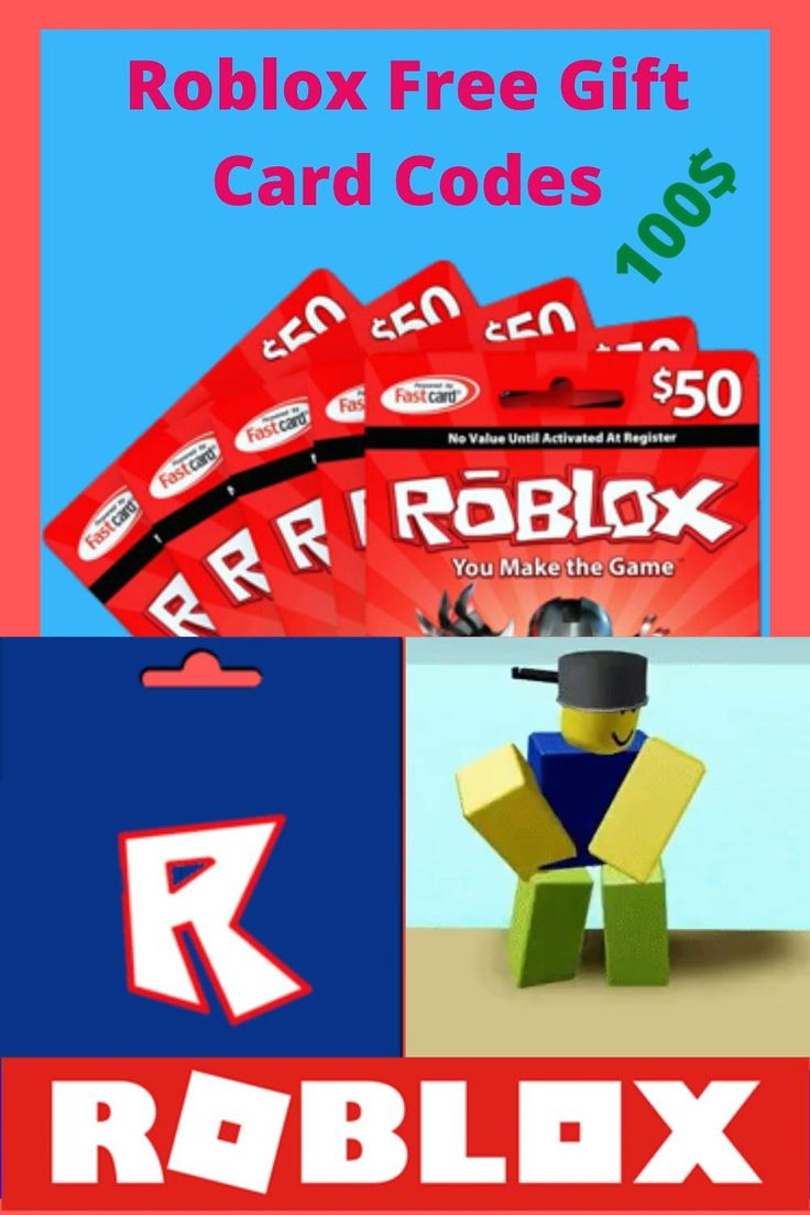 Free roblox 100 gift card codes video in 2020 roblox