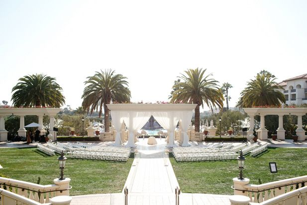 Timelessly elegant, classic Southern California wedding ceremony at Monarch Beach Resort | Luxury hotel wedding venues ballroom and garden near Los Angeles (Kevin Le Vu Photography)