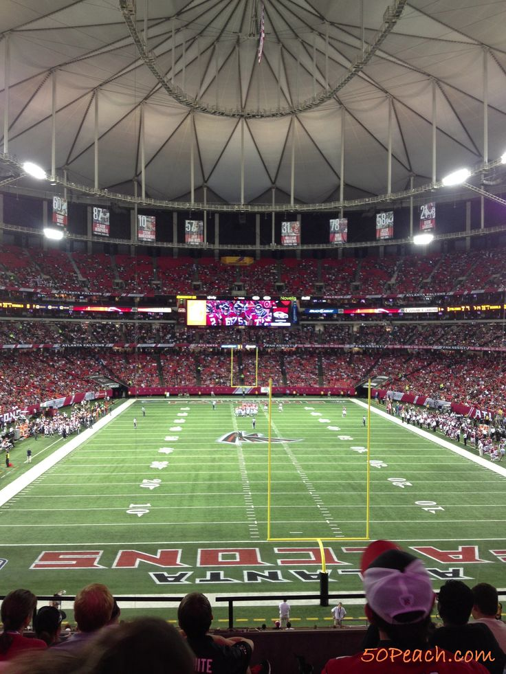 Mighty Peach Life List, #47: Attend An Atlanta Falcons Game - DONE!