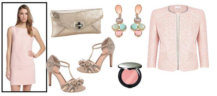 Look de boda para invitadas vestido rosa palo vestidos - Color rosa palo ...