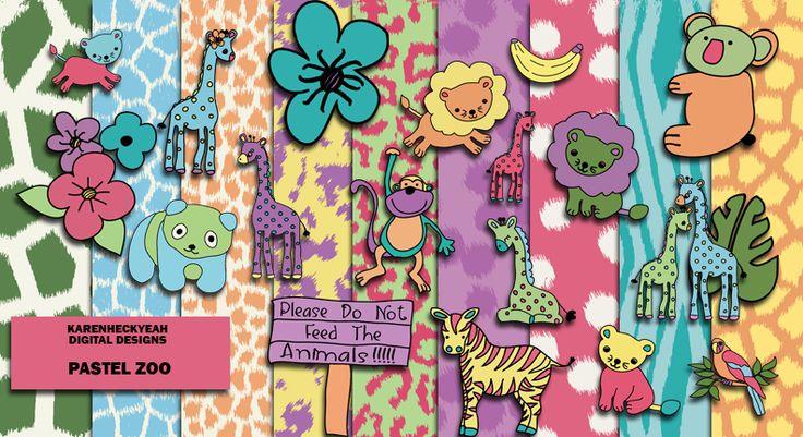 Pastel Zoo