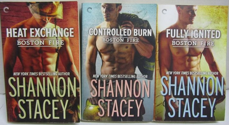 Lot Of 3 Shannon Stacey Books - Boston Fire 1-3 Heat Exchange Burn Fully Ignited