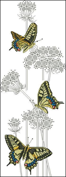 Gallery.ru / Фото #9 - Ajisai Designs - Swallowtail Butterflies - tymannost