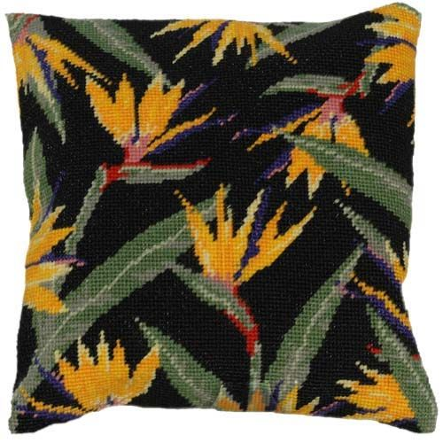 Bird of Paradise Tapestry Cushion Kit | The Tropical Flower Collection | Tapestry Cushions and Kits | MariesCrossStitch.co.uk