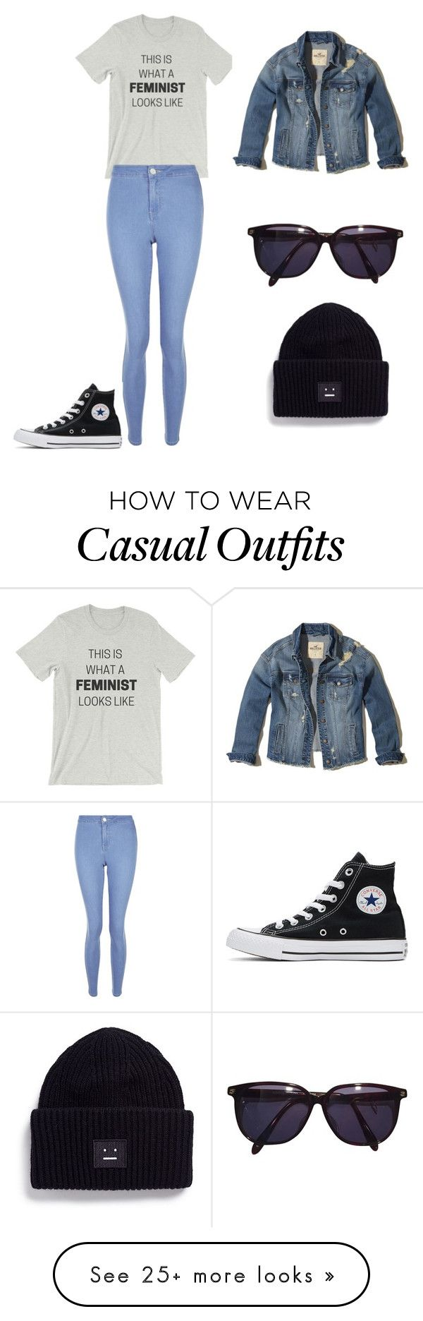 """""""Casual feminist"""" by nya-dreambig on Polyvore featuring New Look, Converse, Hollister Co., Sonia Rykiel and Acne Studios"""