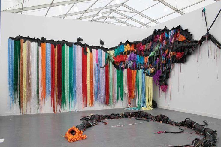 Nicholas Hlobo's installation is on offer for $300,000 at South Africa's Stevenson