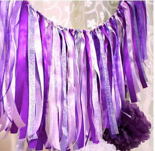 Mixed of Purple Party Banner Decoration by PartyInspiration