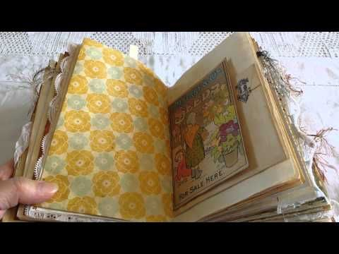 Shabby Chic Altered book / smash book Accucut Grand Mark Challenge entry - YouTube