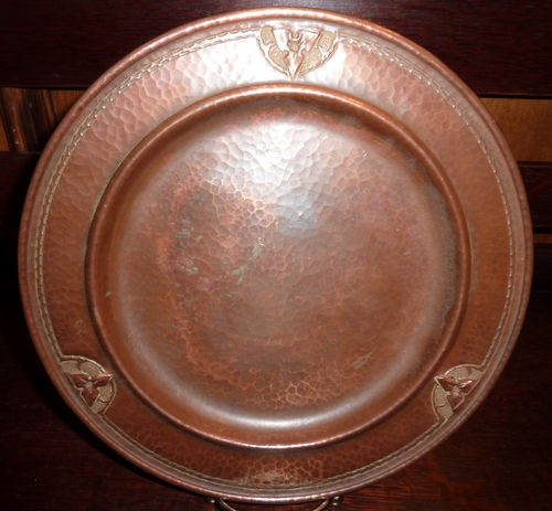 Antique Roycroft Hammered Copper Arts Crafts 9 7 8  Plate Unsigned | eBay $170.5 (. Craftsman Style ... & 61 best Arts u0026 Crafts Dishes images on Pinterest | Dinnerware Dish ...