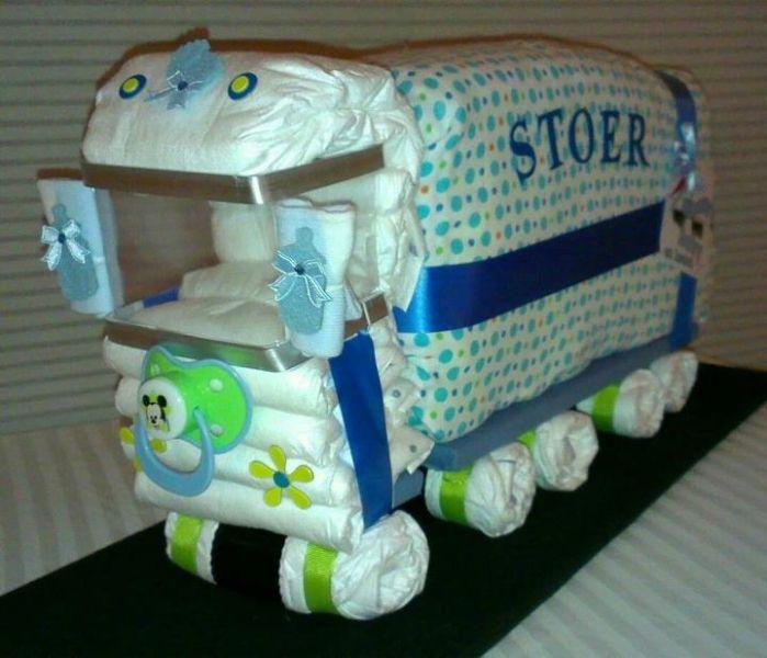 vrachtwagen van luiers