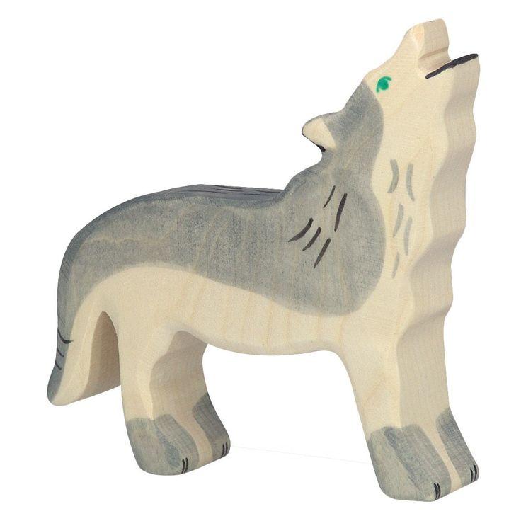 Holztiger Wooden Animal Figure Wolf Canada