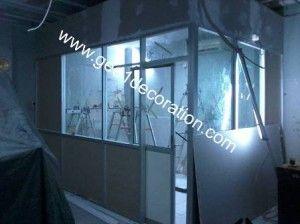 #partisi #ruangan #kaca #gipsum #kusen aluminium