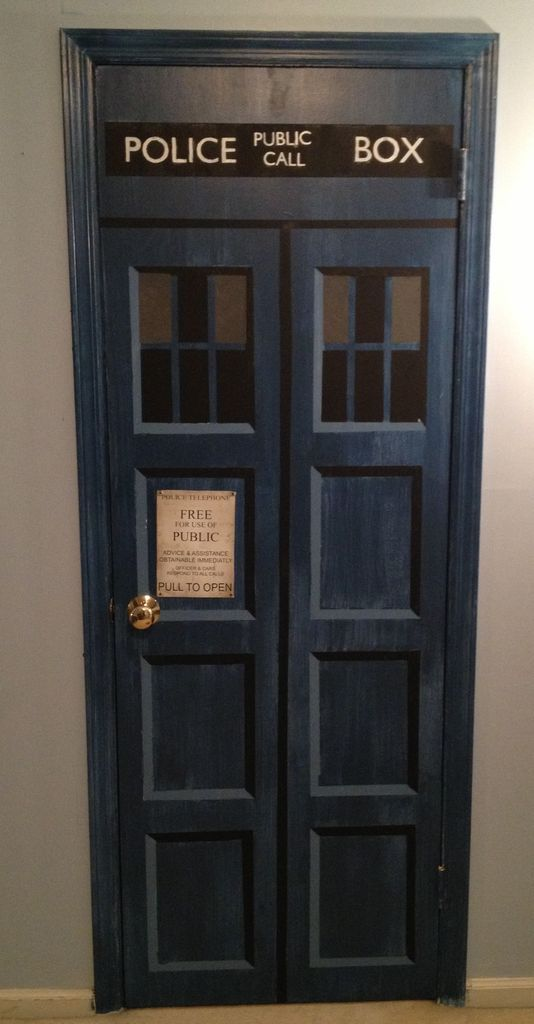 #DoctorWho #DIY door project... for the laundry room which now serves as the #Tardis - wonder what hubs would think if he came home to THAT!