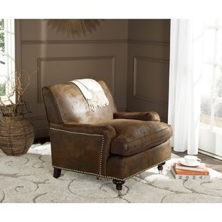 Safavieh Chloe Brown Club Chair   Overstock.com Shopping - The Best Deals on Living Room Chairs