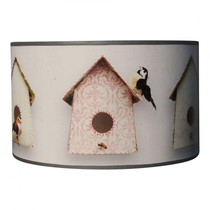 Lamp vogelhuisjes behang studio Ditte Leuk voor de meisjes babykamer ...