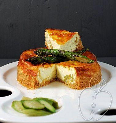 Cheesecake salado de trigueros Savory cheesecake with asparagus Cheesecake salé aux asperges vertes