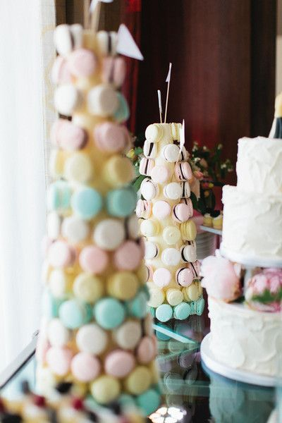 Pastel #FrenchMacaroon Tree I Scheme Events I See more @WeddingWire
