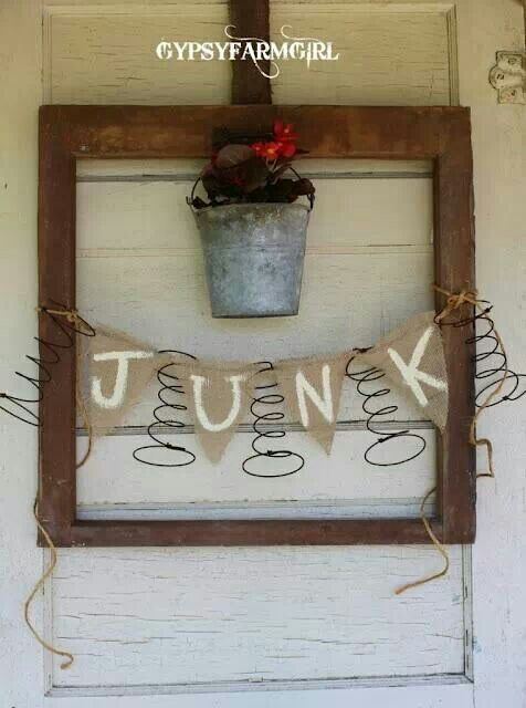 An old frame, a semi-rusty bucket, old bed springs and burlap ... what more can you ask for?