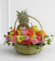 This fruit basket is gorgeous. Receiving something like this is extremely thoughtful and very much appreciated. It's as they say, it's the thought that counts. Getting a basket like this with the flowers and fruit speak to the heart on so many levels.