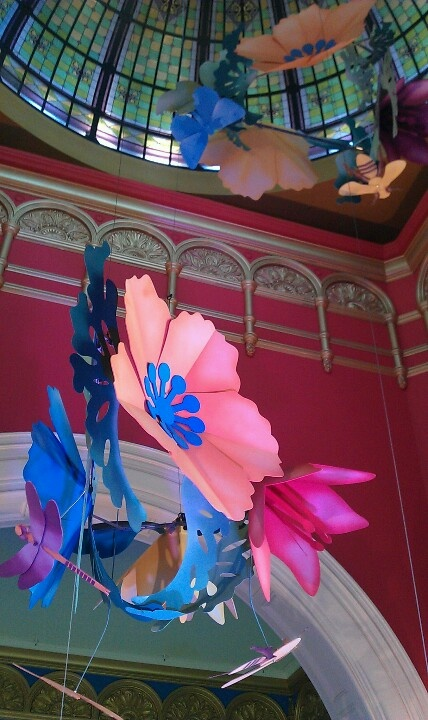 Art & About, Sydney: Art installation by paper engineer Benja Harney, QVB