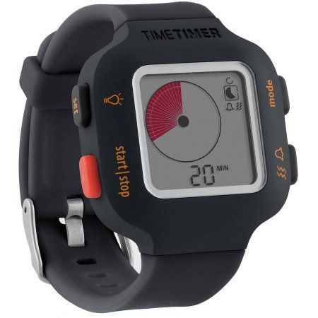 The Time Timer Watch Plus, Small, Charcoal, Black