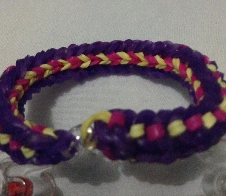 Reversed side of the lovelinks bracelet #loves2loom