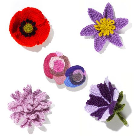 Knit Flower Patterns : The 33 best images about Knitted Poppies on Pinterest ...