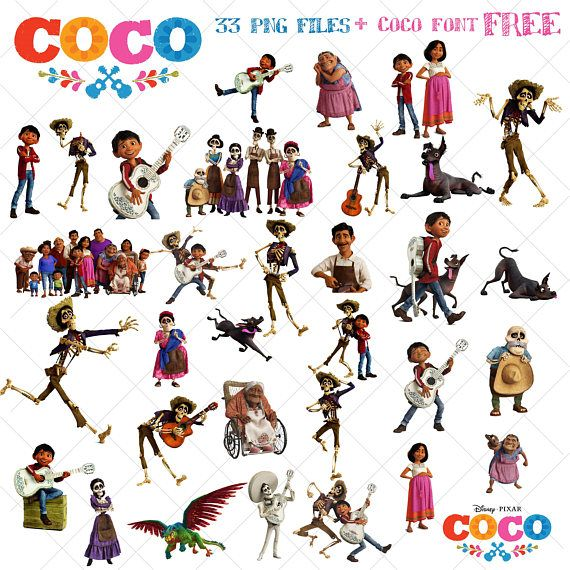 33 Coco Clipart Disney Coco Movie Coco Png Images Clipart Vector File Digital Files Instant Download Coco Font Fr Movie Clipart Free Clip Art Clip Art