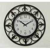 Found it at Wayfair - Ashton Sutton Indoor/Outdoor Wall Clock