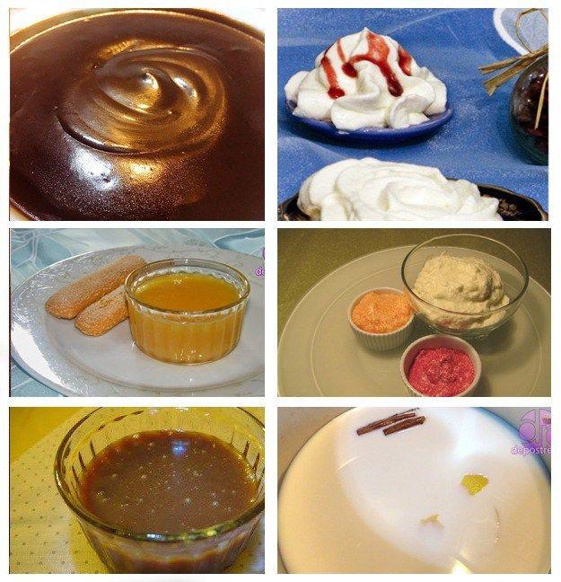 8 Cremas para Postres Estas cremas son ideales para dar sabor a tus pasteles y tartas, sin duda no deben faltar en tu colección de recetas. La crema pastelera, de yema, de queso, el tofee, las natillas, … ya sea de relleno o de cobertura para tus bizcochos y tortas , o simplemente para untar en galletas o bollitos para la merienda. Veras lo fácil que se preparan y como realzan el sabor de...