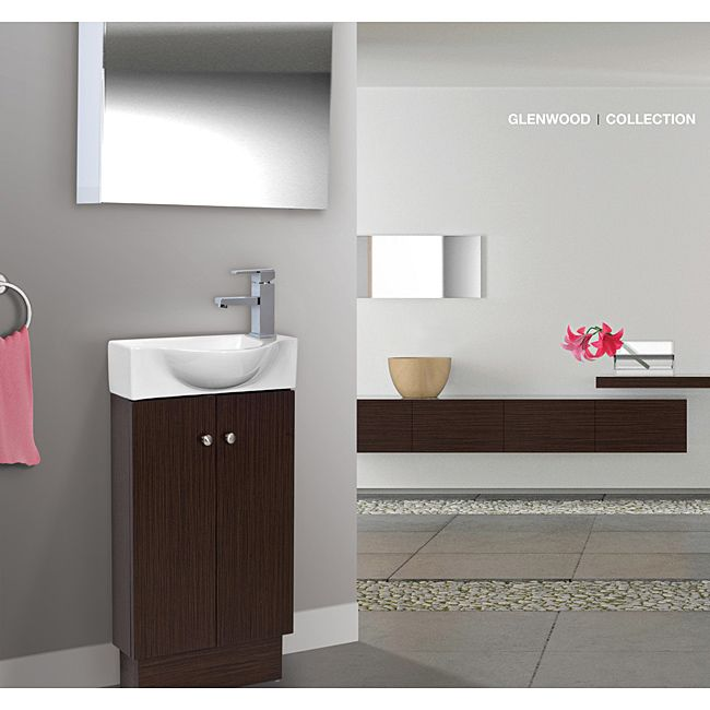 Give Your Bathroom A Quick Update With This Stylish Wenge And White Vanity Two Drawers Slim Styling From Glenwood Is