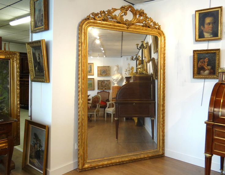 Tres grand miroir ancien proantic miroir miroir dis for Tres grand miroir
