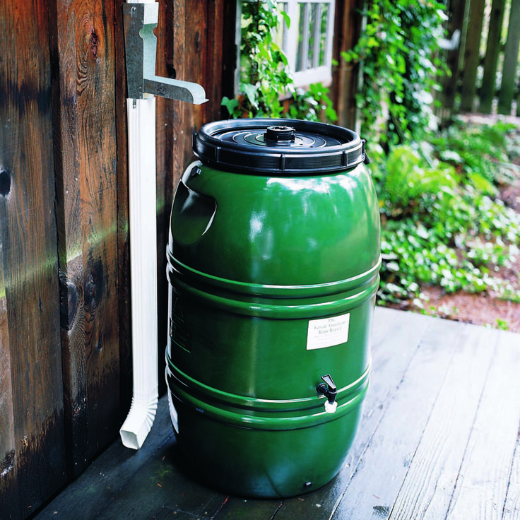 Rain Barrel and Diverter: Gardenista | Gridless | Pinterest