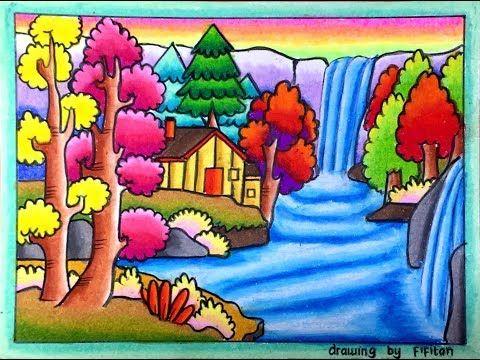87 Gambar Pemandangan Menggunakan Pensil Warna Gratis Terbaru
