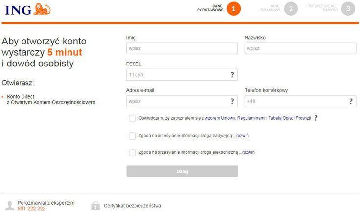 Jak otworzyć konto w ING Banku Śląskim