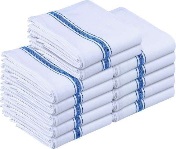 Kitchen Towels White And Blue